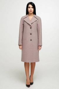 Жіноче пальто «Модрина» бежевого кольору 48 розмір
