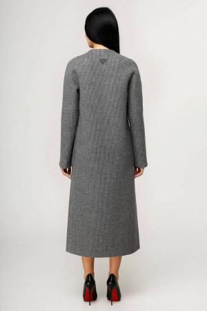 Жіноче пальто «Комбо» темно-сірого кольору