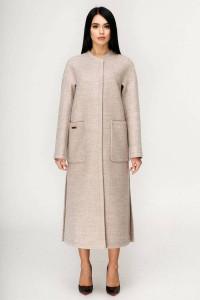 Жіноче пальто «Комбо» бежевого кольору