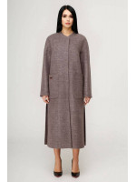 Жіноче пальто «Комбо» бузкового кольору
