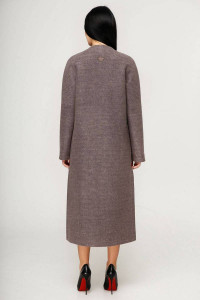 Женское пальто «Комбо» сиреневого цвета