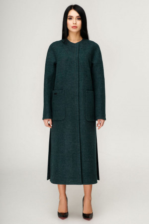 Жіноче пальто «Комбо» темно-зеленого кольору