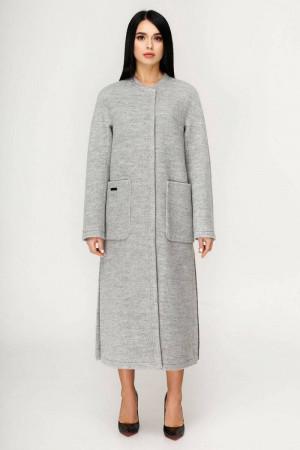 Женское пальто «Комбо» светло-серого цвета