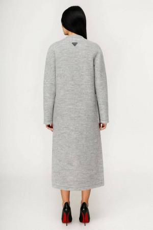Жіноче пальто «Комбо» світло-сірого кольору
