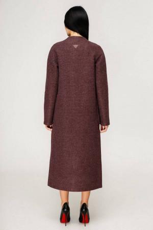 Жіноче пальто «Комбо» темно-червоного кольору