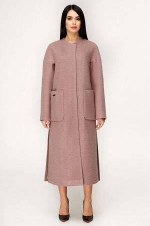Жіноче пальто «Комбо» коричнево-рудого кольору