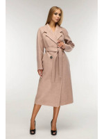 Женское пальто «Коста» коричнево-рыжего цвета