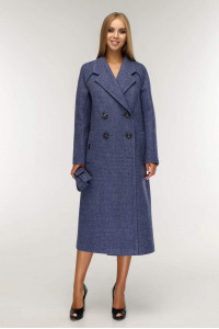 Жіноче пальто «Коста» синього кольору