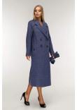 Жіноче пальто «Коста» синього кольору 54 розмір
