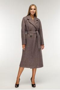 Жіноче пальто «Коста» шоколадного кольору