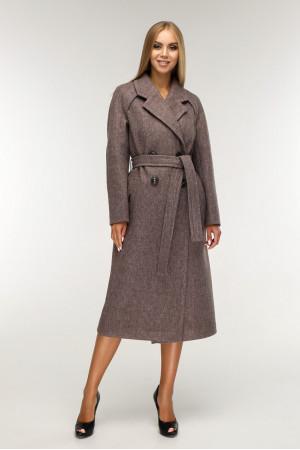 Женское пальто «Коста» шоколадного цвета