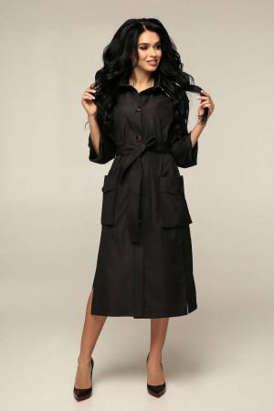 Жіночий плащ «Хортон» чорного кольору
