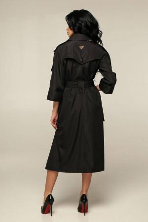 Женский плащ «Хортон» черного цвета 52 размер