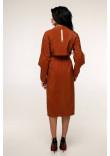 Жіночий плащ «Мартен» цегляного кольору 44 розмір