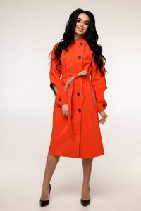 Жіночий плащ «Мартен» червоно-помаранчевого кольору 44, 48 розмір