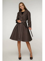 Жіноче пальто «Пегін» кавового кольору