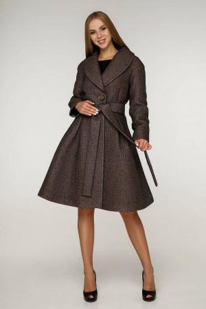 Женское пальто «Пэгин» кофейного цвета