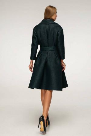 Жіноче пальто «Пегін» темно-зеленого кольору