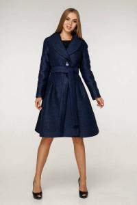 Жіноче пальто «Пегін» темно-синього кольору 46, 50 розмір