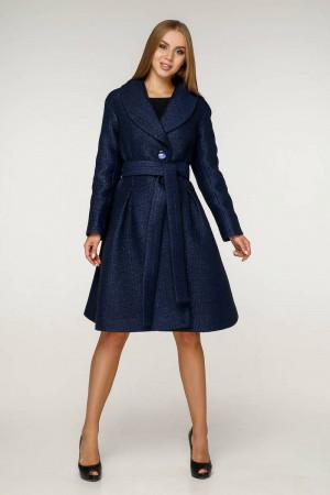 Женское пальто «Пэгин» темно-синего цвета