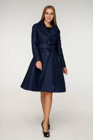 Жіноче пальто «Пегін» темно-синього кольору