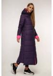 Пуховик «Власта» темно-фіолетового кольору 50 розмір