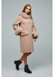 Зимове пальто «Віола» світло-кремового кольору 48 розмір