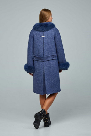 Зимове пальто «Віола» синього кольору