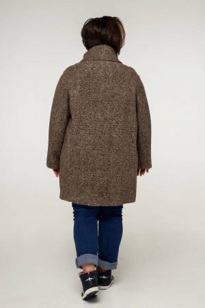 Жіноче пальто «Нінель» темно-оливкового кольору