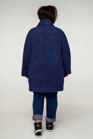 Жіноче пальто «Нінель» темно-синього кольору