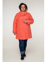 Жіноче пальто «Нінель» коралового кольору