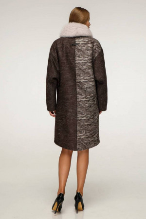 Зимове пальто «Дівія» коричневого кольору
