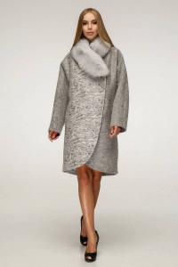 Зимове пальто «Дівія» сірого кольору 56 розмір