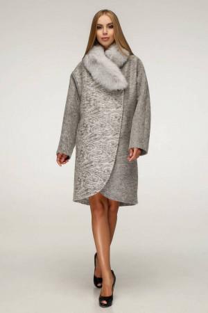 Зимнее пальто «Дивия» серого цвета 56 размер