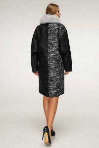 Зимове пальто «Дівія» чорного кольору