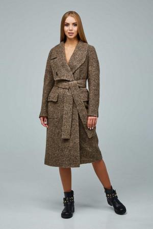 Женское пальто «Болэнд» коричневого цвета