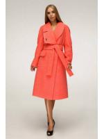 Жіноче пальто «Боленд» коралового кольору