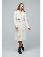 Жіноче пальто «Боленд» білого кольору