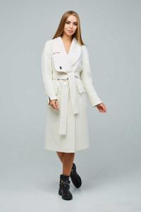 Женское пальто «Болэнд» белого цвета