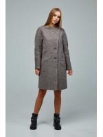 Жіноче пальто «Букке» кавового кольору