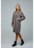 Жіноче пальто «Букке» кавового кольору 52 розмір
