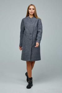 Женское пальто «Буккэ» серого цвета 54 размер