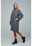 Жіноче пальто «Букке» сірого кольору 54 розмір