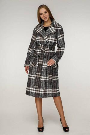 Жіноче пальто «Хелсі» кавового кольору 52 розмір