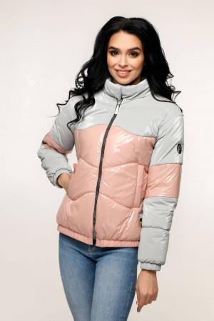 Куртка жіноча «Геббі» світло-сірого кольору
