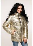 Куртка жіноча «Віторі» блідо-золотавого кольору 52 розмір