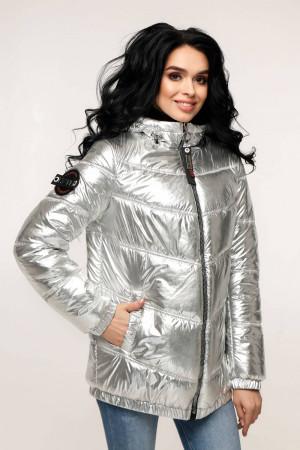 Куртка жіноча «Віторі» сріблястого кольору