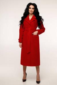 Женское пальто «Палома» красного цвета 52 размер