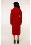 Жіноче пальто «Палома» червоного кольору 52 розмір