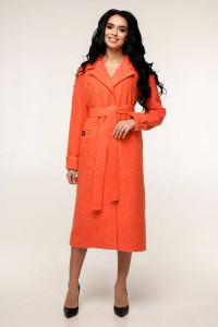 Женское пальто «Палома» кораллового цвета 54 размер